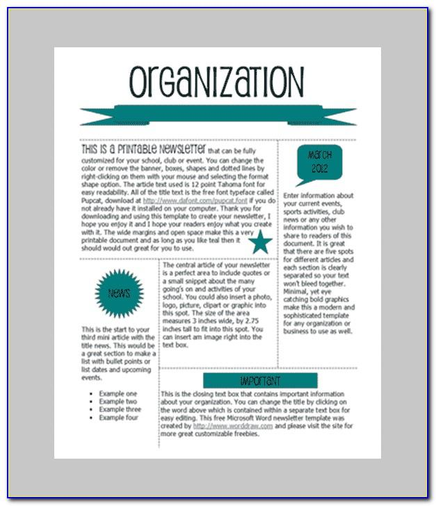 Office Newsletter Templates Microsoft
