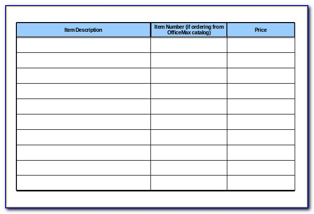 Office Supplies Inventory Sheet