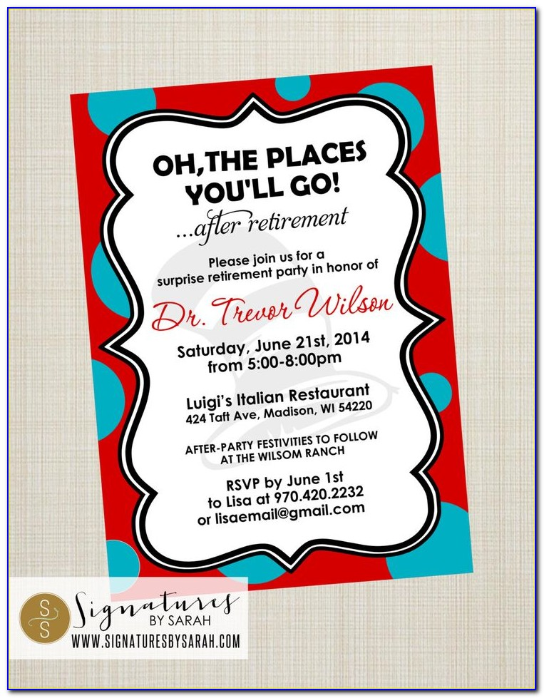 Oh The Places Youll Go Graduation Invitation Template Free