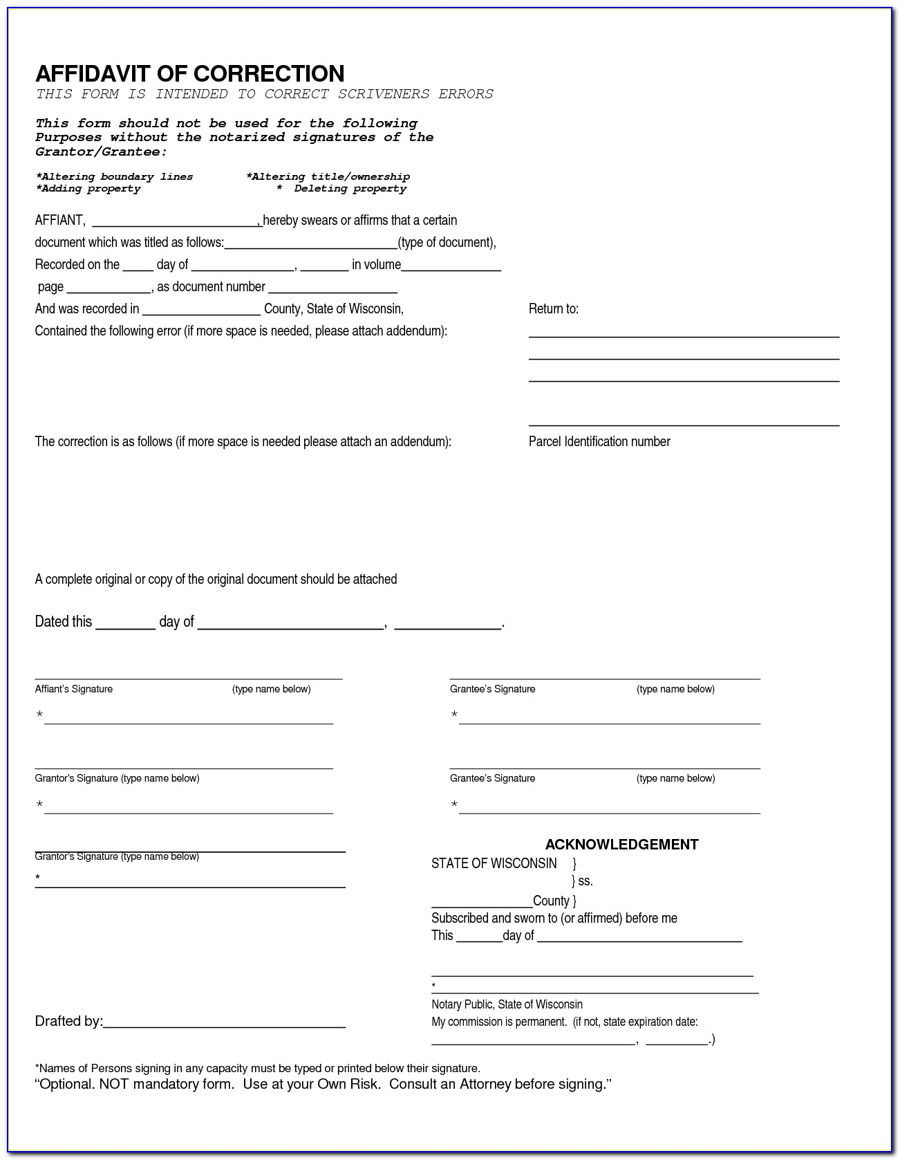 Oklahoma Joint Tenancy Quit Claim Deed Form
