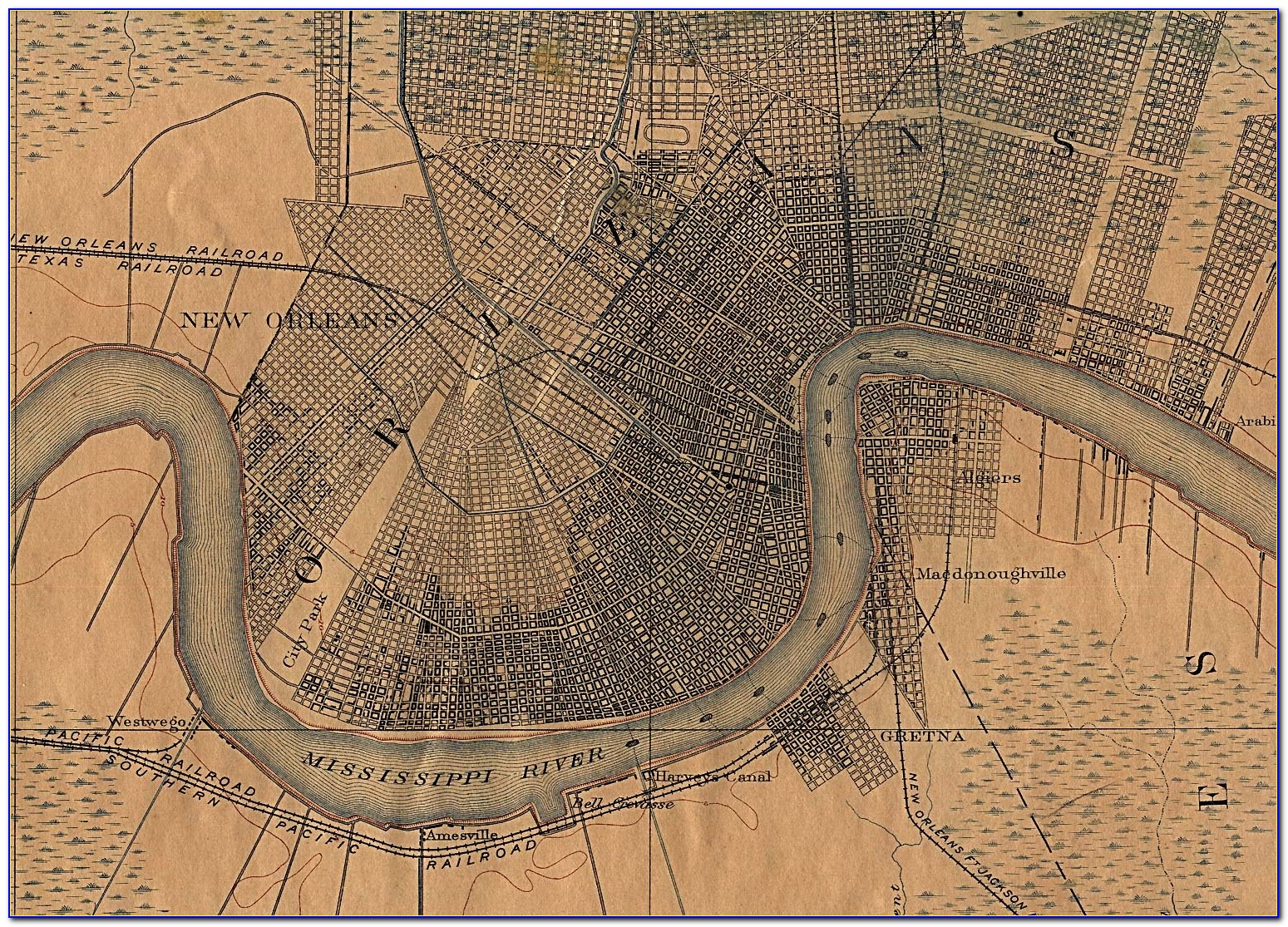 Old Street Maps Of New Orleans