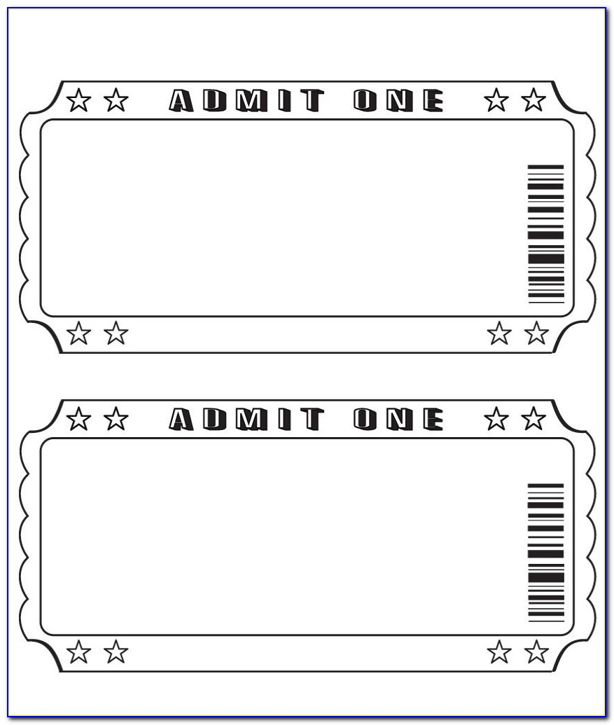 Old Theatre Ticket Template