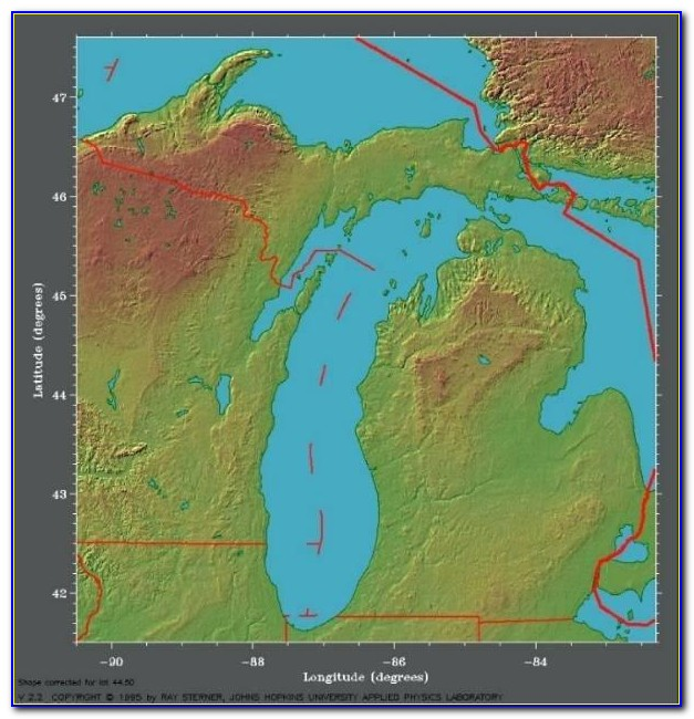Old Topo Maps Of Michigan