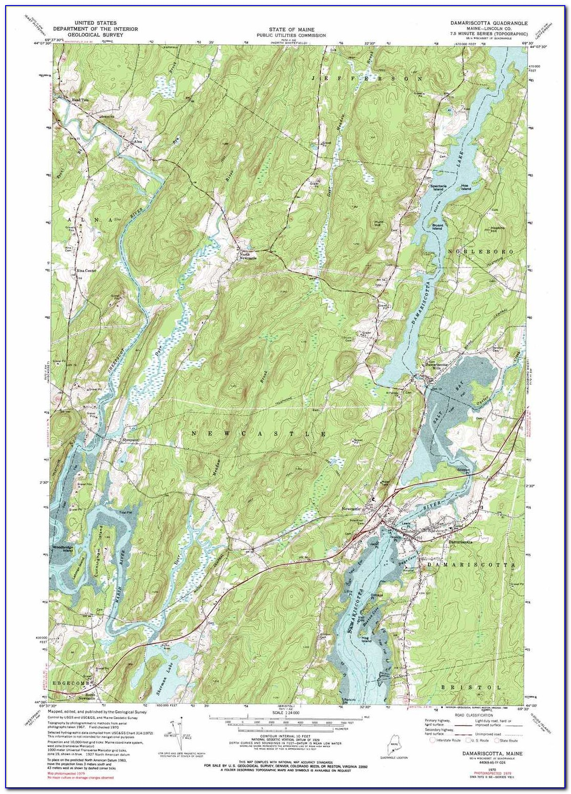 Old Topographic Maps Of Maine
