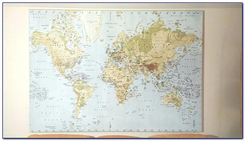 Old World Map Canvas Ikea
