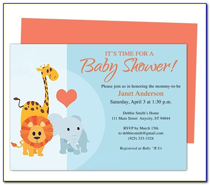 Free Online Baby Shower Invitation Templates Ba Shower Invitations Regarding Free Online Baby Shower Invitations Templates