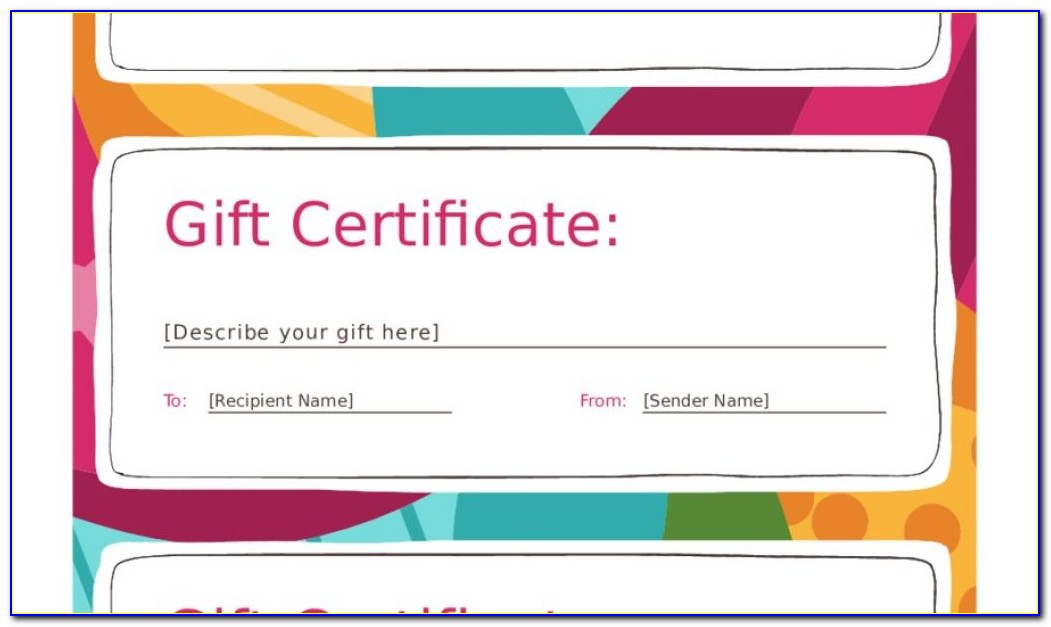 Online Christmas Gift Certificate Templates Free