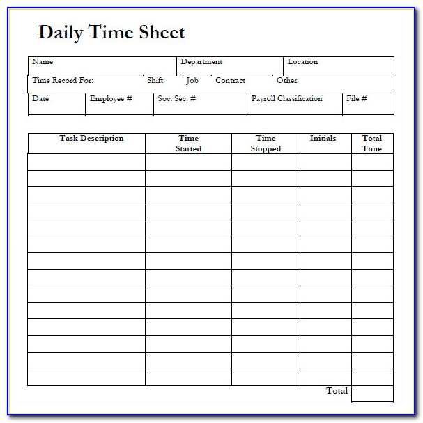 Online Excel Timesheet Template