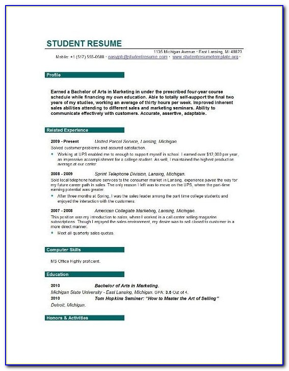 Blank Resume Templates Resume Templates And Resume Builder Student With Student Resume Builder Free