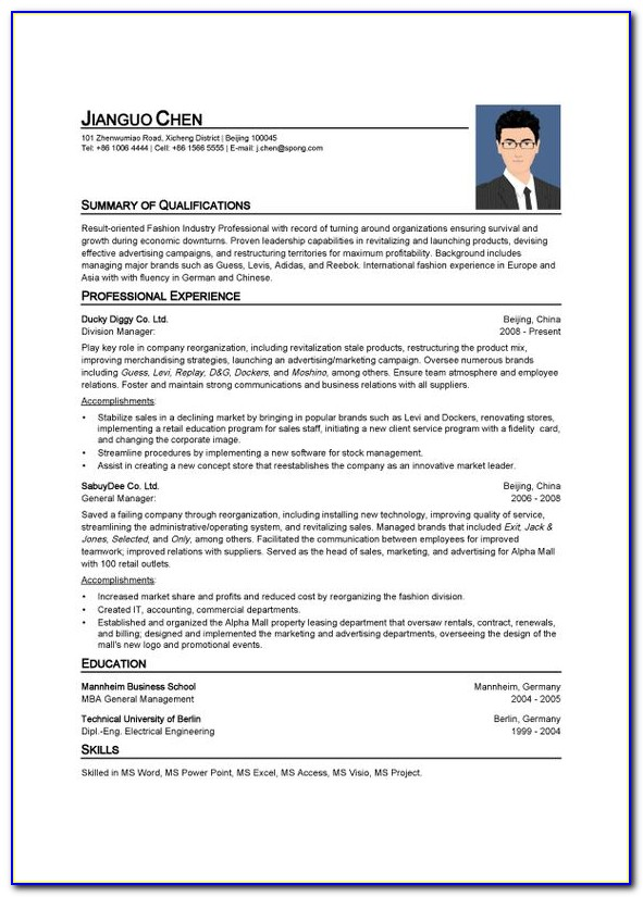 Online Resume Creation For Freshers