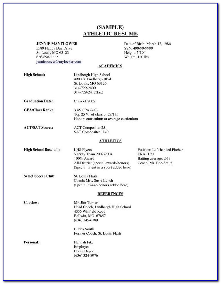 How To Write A Resume For High School Students | Resume Sample Format Throughout High School Resume Creator