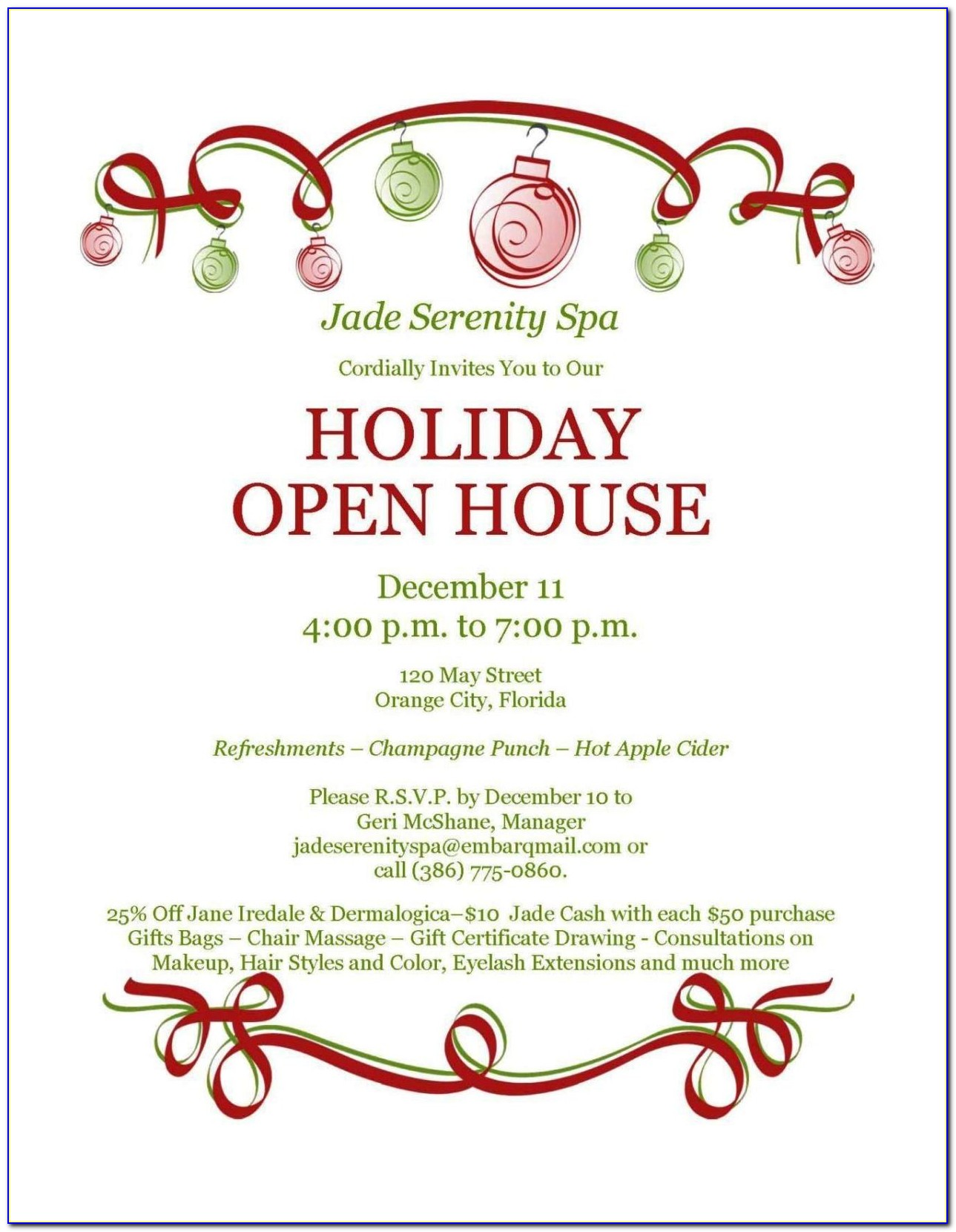 Free Open House Invitation Template