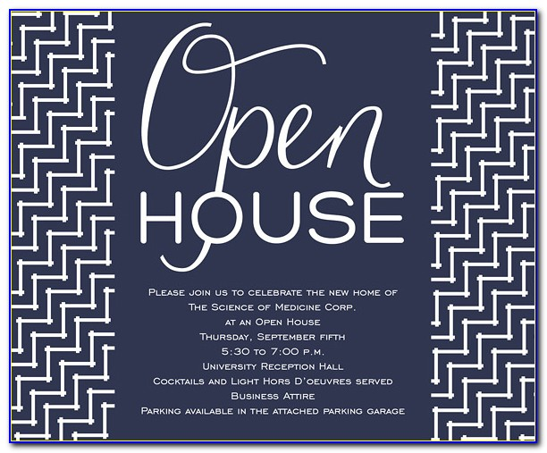 Open House Invitation Template Free Vincegray2014