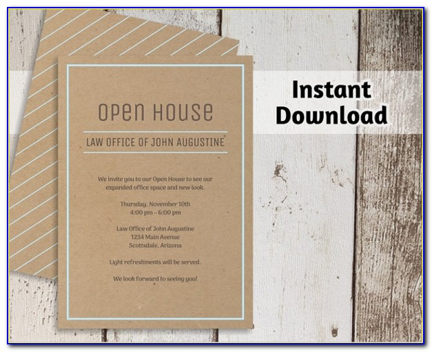 Open House Invitation Template Word