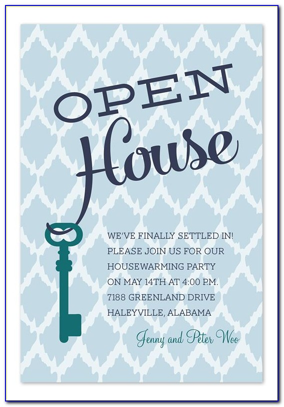 Open House Party Invitation Templates