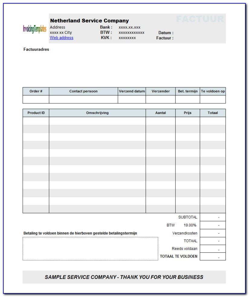 Open Office Invoice Templates Free Download