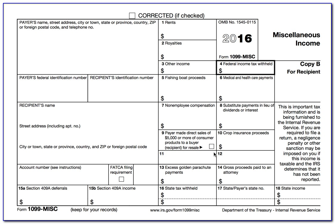 Order 1099 Tax Forms From Irs
