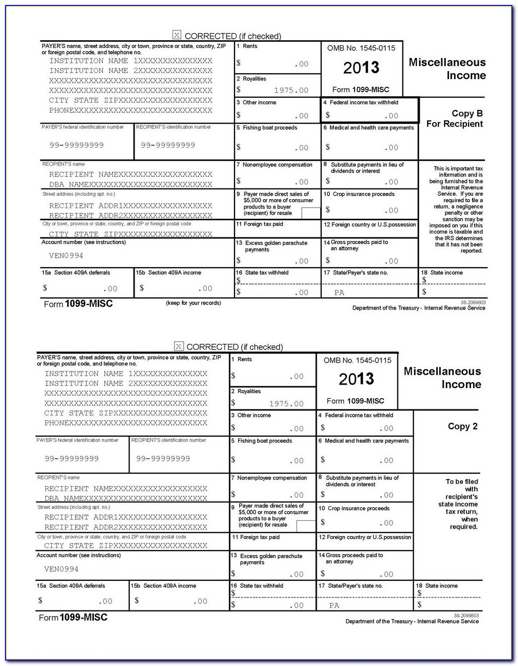 Order 1099 Tax Forms