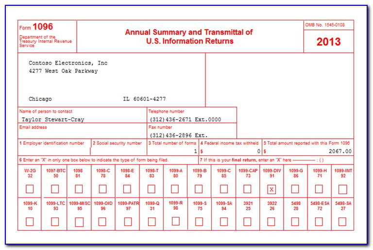 Order Forms 1099 And 1096