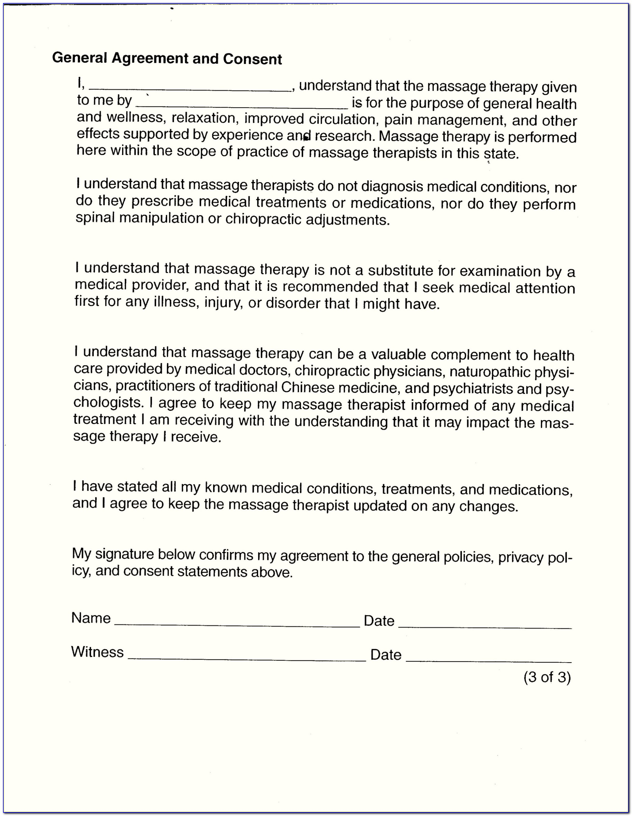 Dental Consent Form Templates