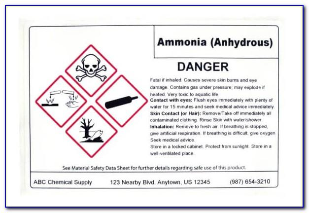 Osha Hazard Label Template