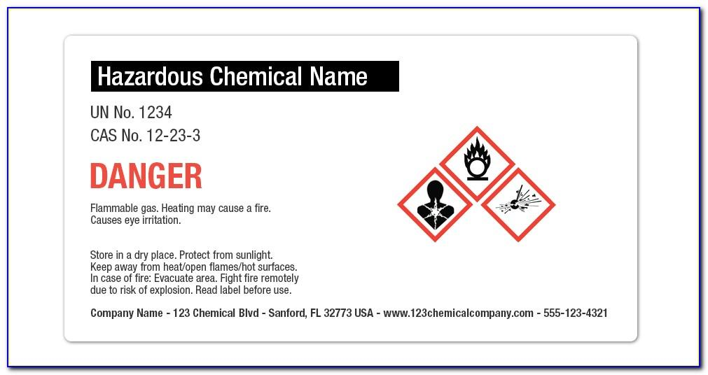 Osha Label Template