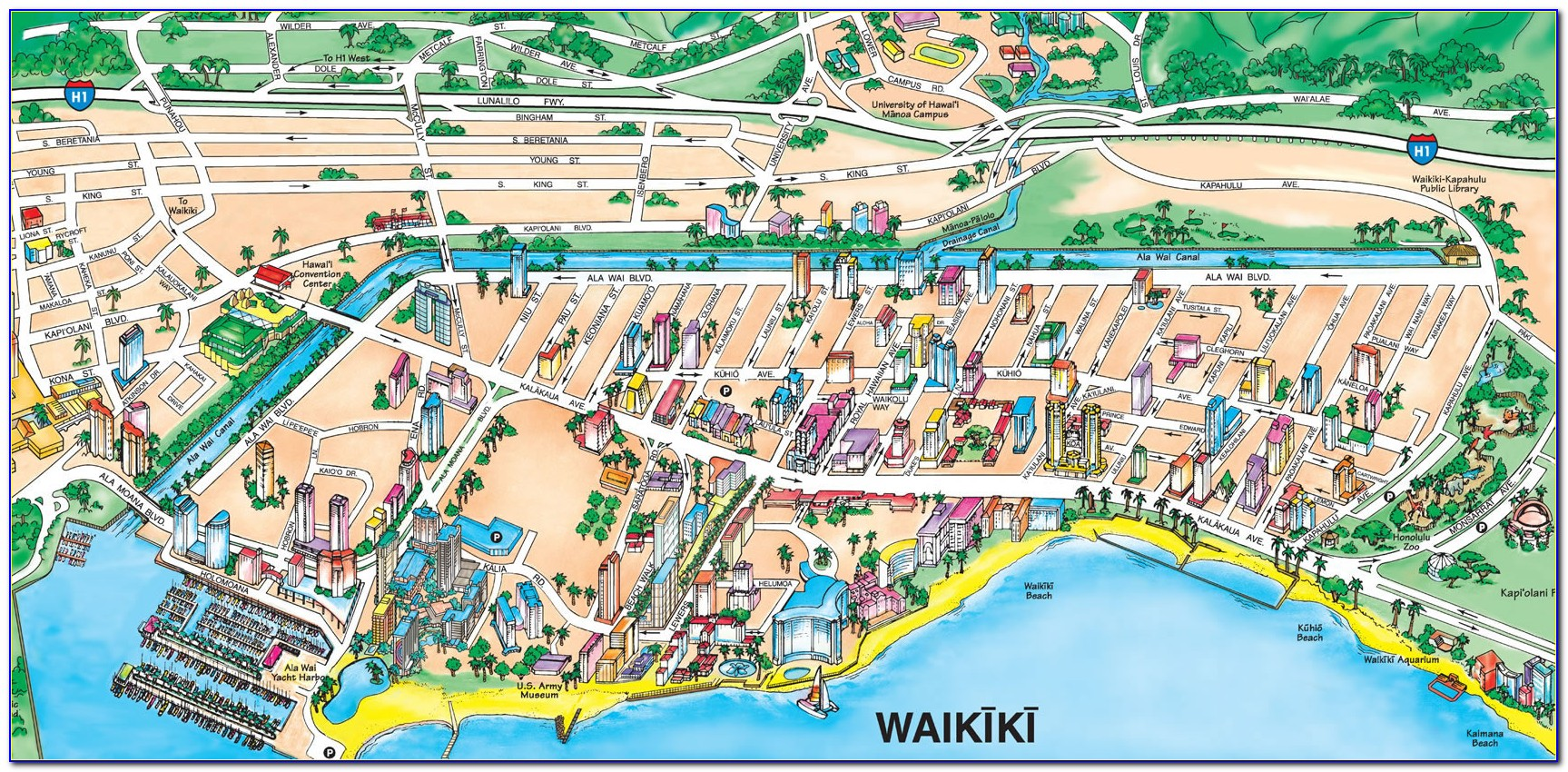 Outrigger Hotels Waikiki Map