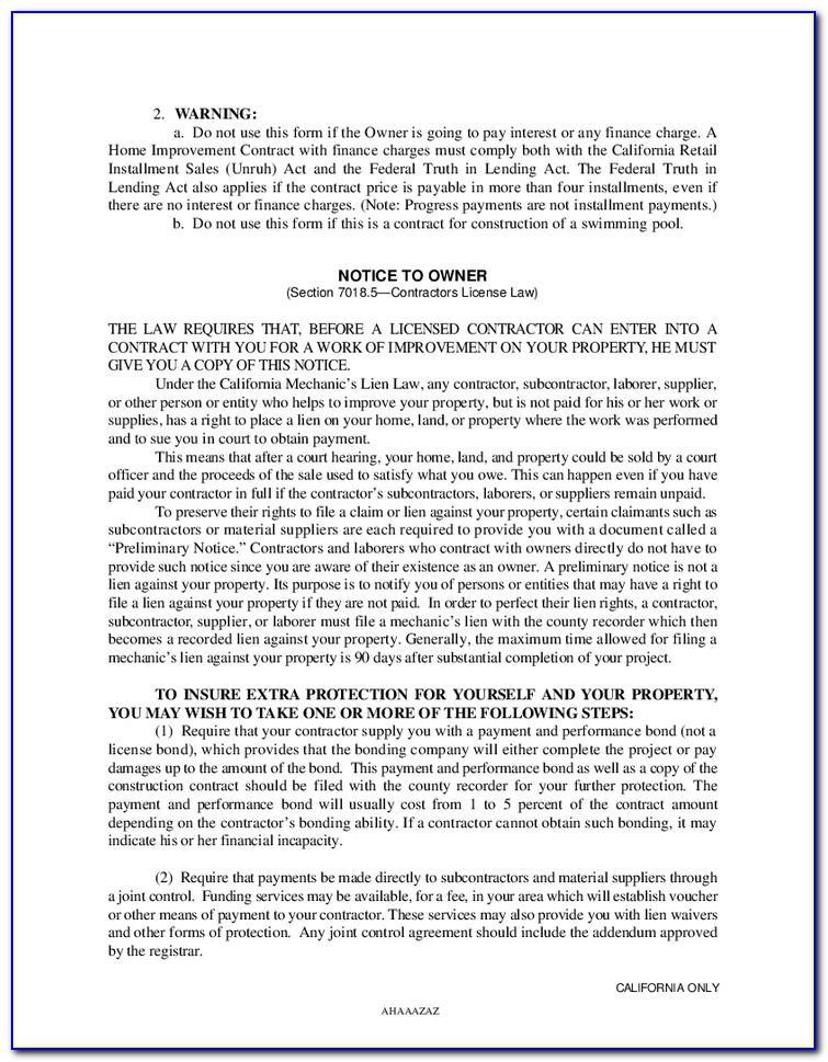 Owner Finance Car Contract Template