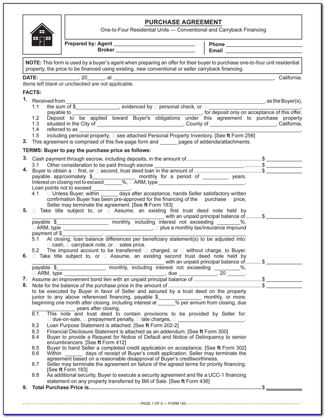 Owner Financing Contract Template Pdf