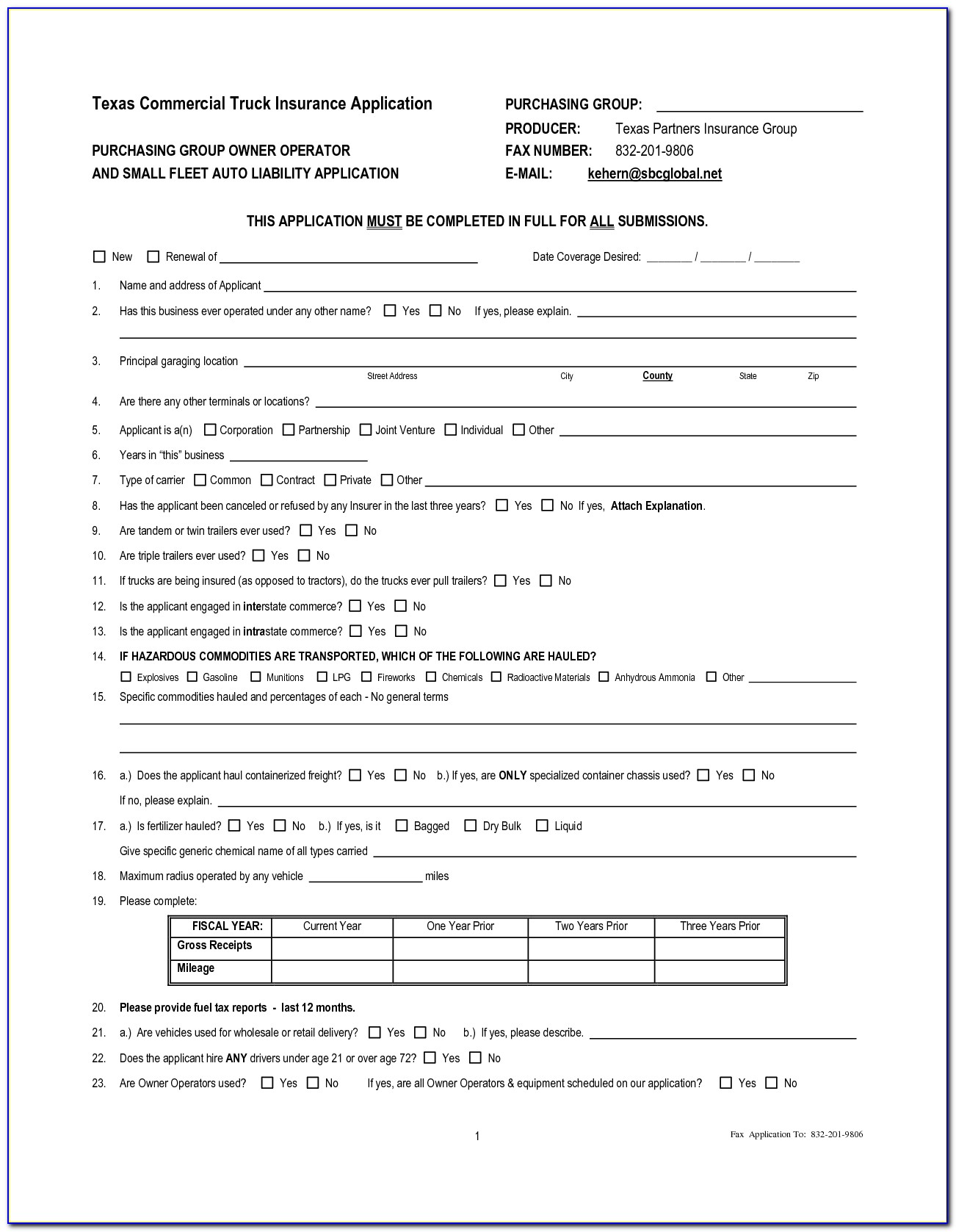 Owner Operator Truck Lease Agreement Template