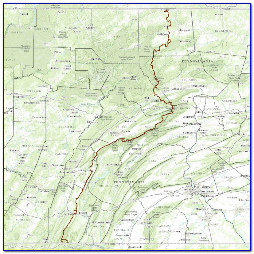 Pa Hiking Trail Maps