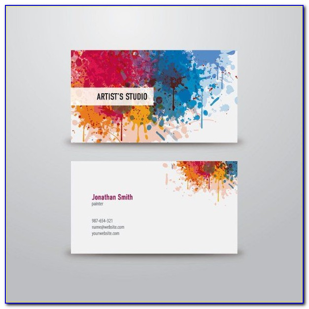 Painter Business Card Template Free Download