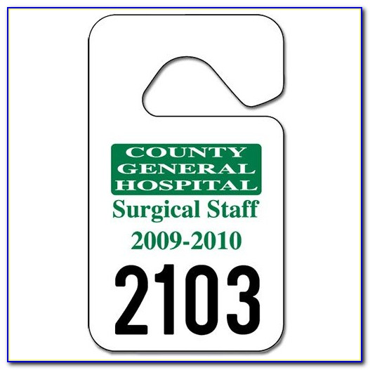 Parking Permit Hang Tag Template