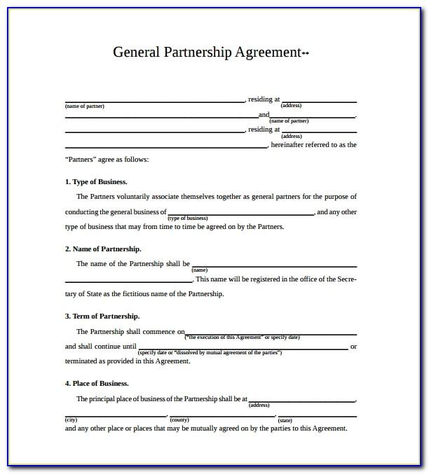 Partnership Agreement Sample Pdf