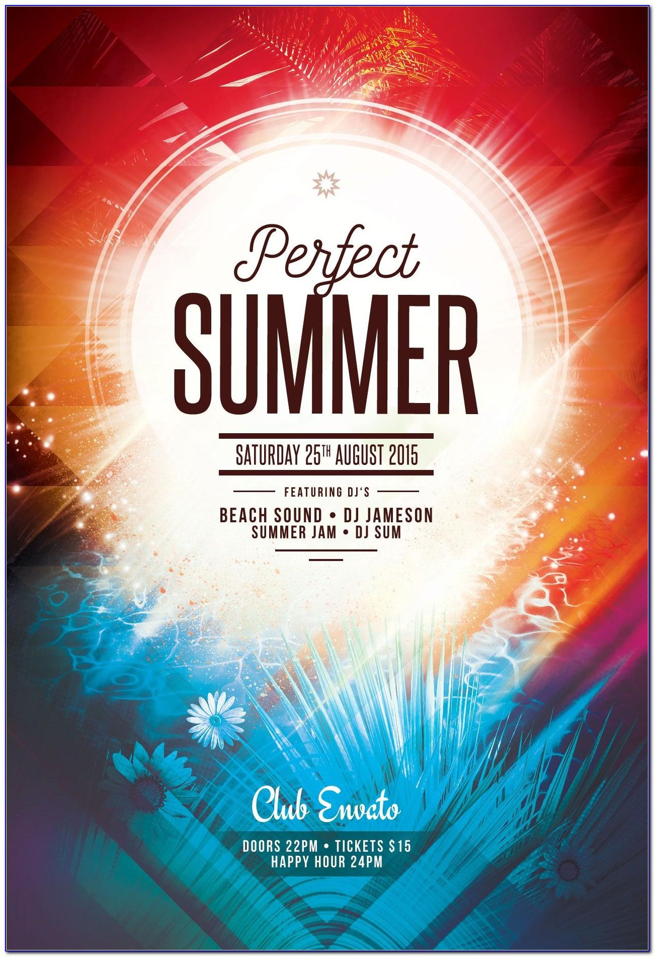 Party Flyer Template Free Psd