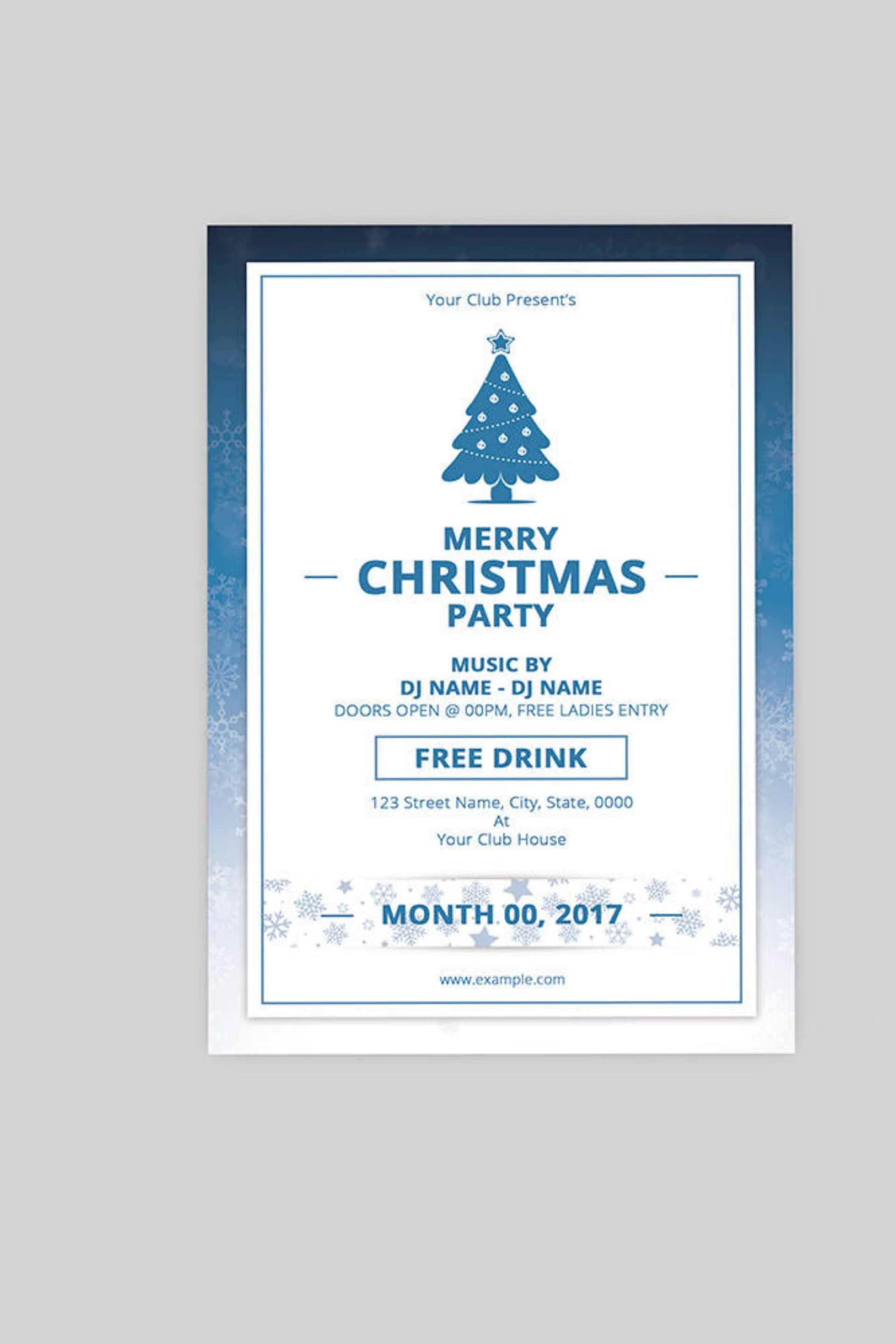Party Flyer Template Free Word