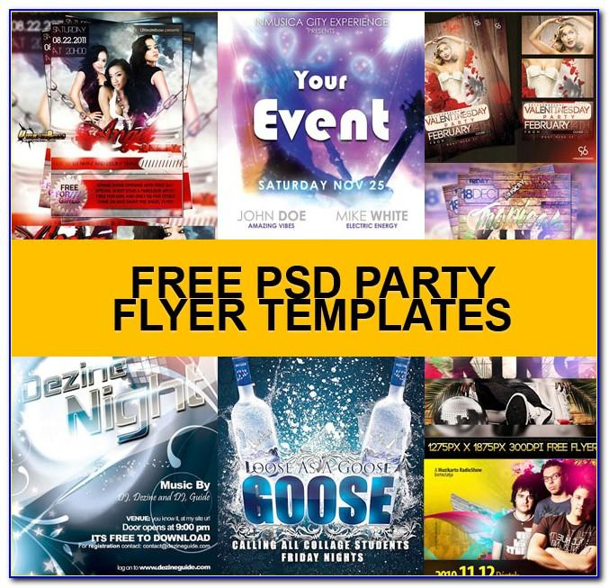 Party Flyer Templates Free Download Psd