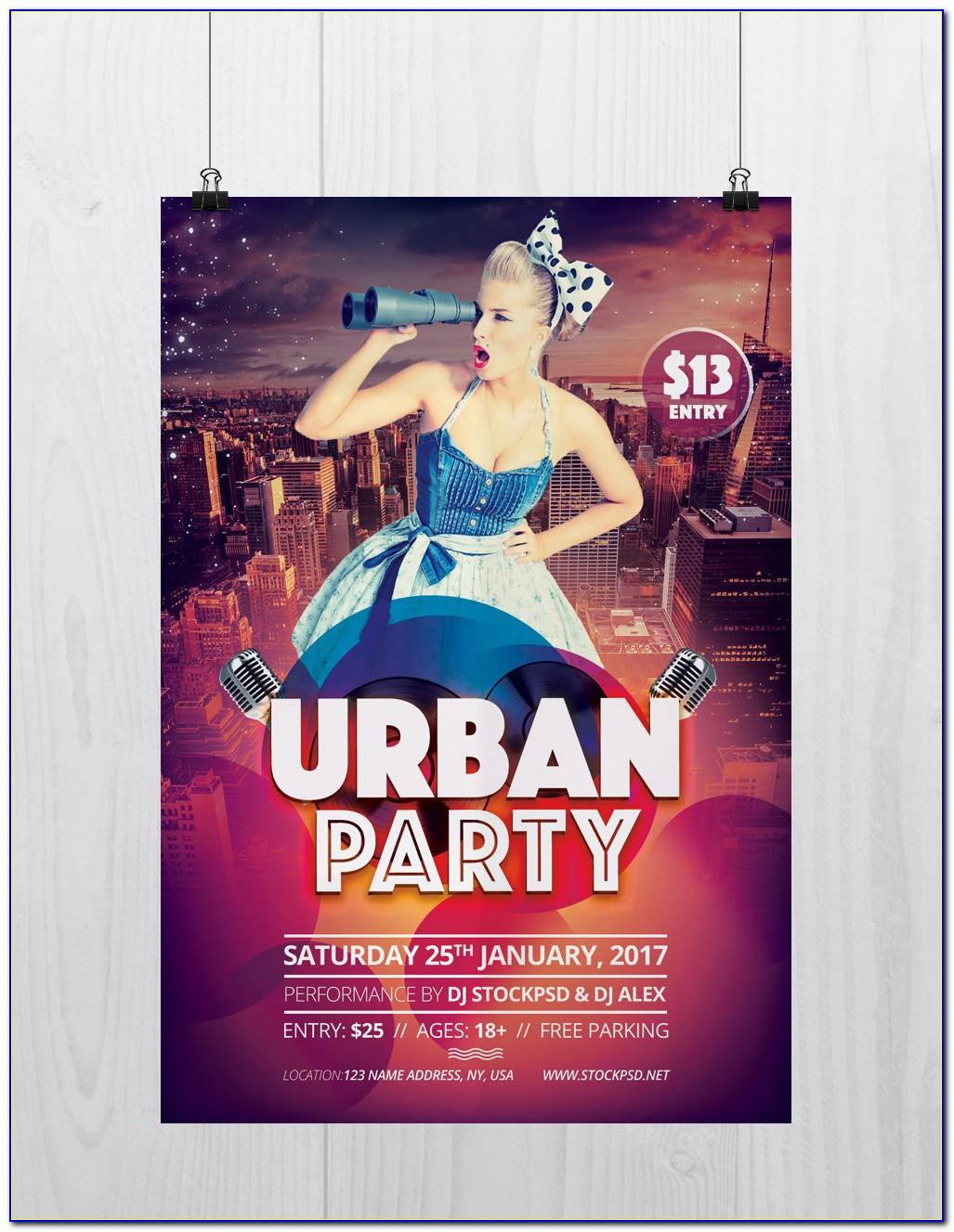 Party Flyer Templates Free Psd