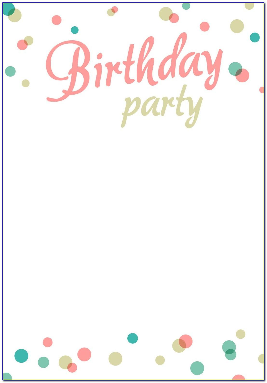 Party Invitation Template Free Printable
