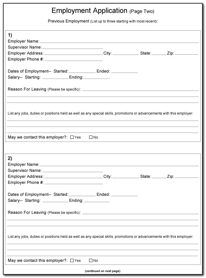 Payless Job Application Form Print Out