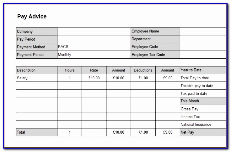 Wage Slip Template Excel Kk2ya Fresh Excellent Salary Slip Template Example In Excel Format With Blank