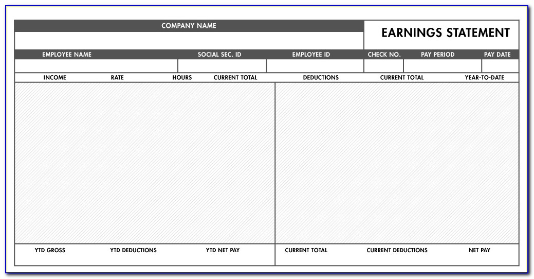 Payroll Pay Stub Template Free Canada
