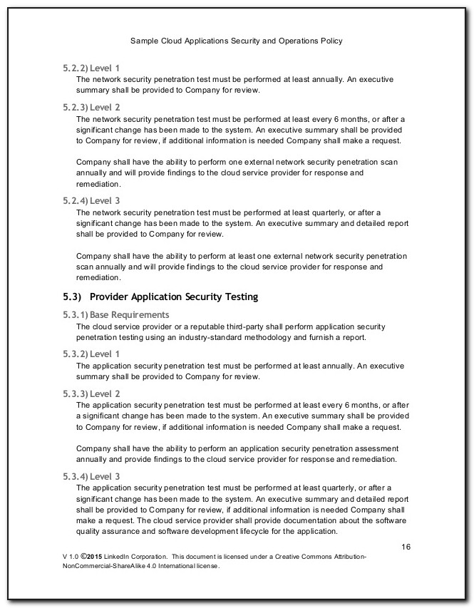 Pci Dss Security Policy Example