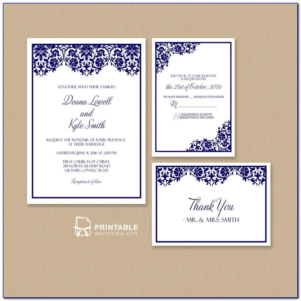 Pdf Wedding Invitation Templates
