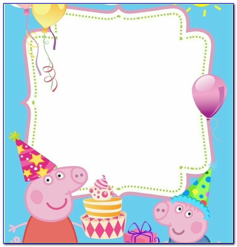 Peppa Pig Birthday Party Invitations Wording