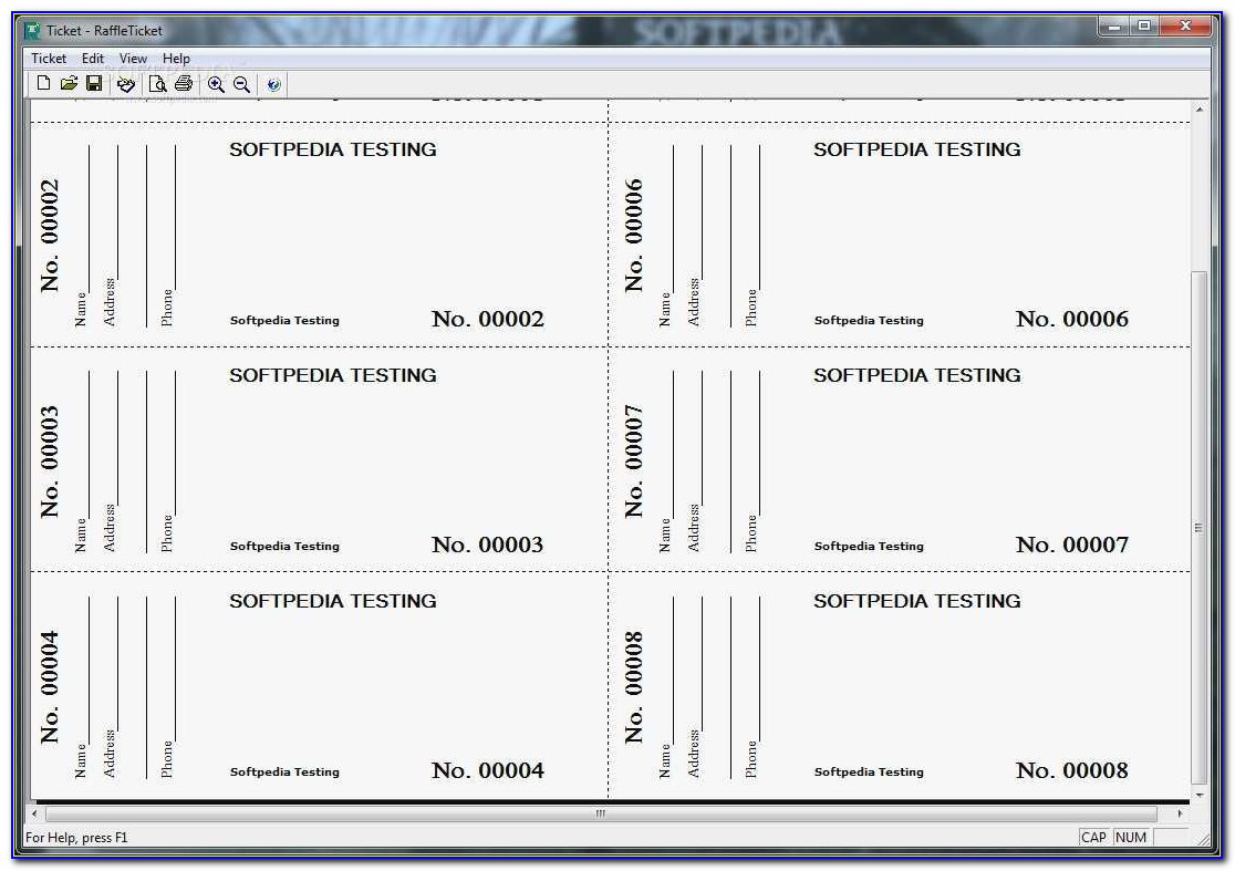 Raffle Ticket Template Excel Free Awesome Printable Raffle Ticket Template Word Fresh Perforated Ticket