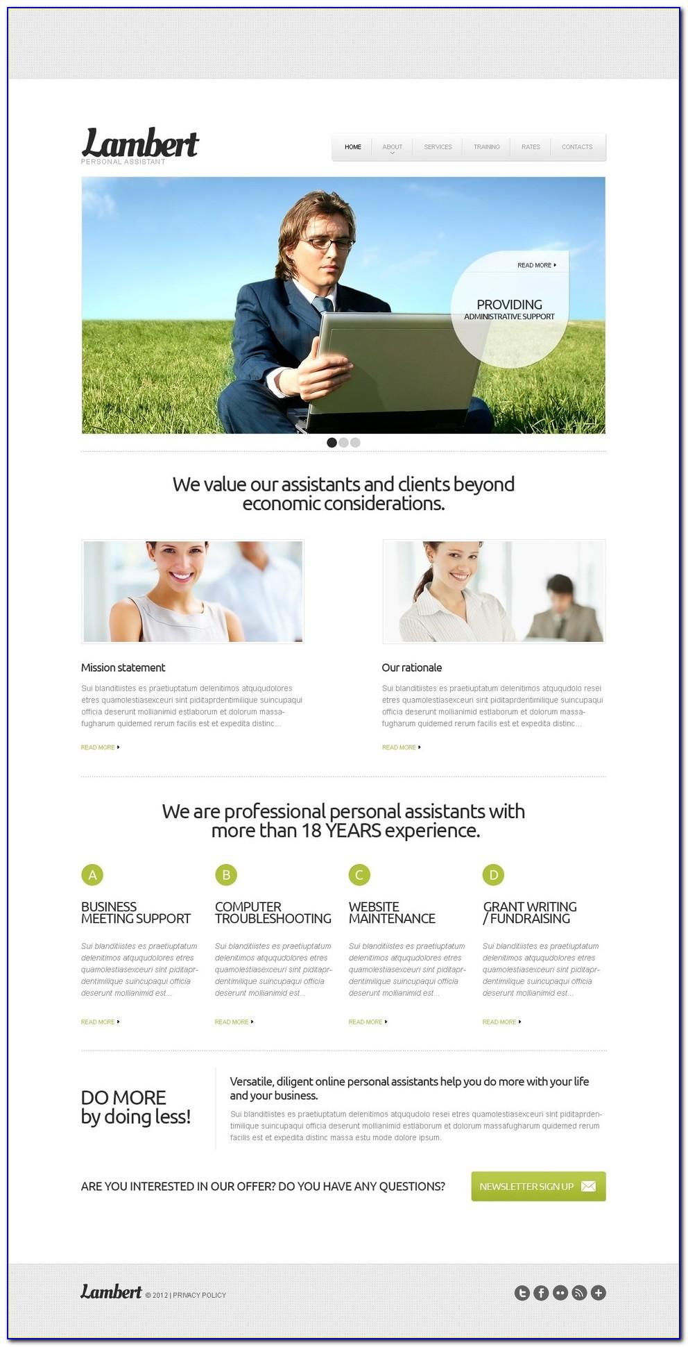 Personal Concierge Website Templates