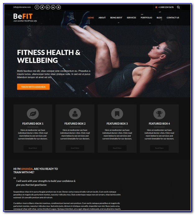 Personal Fitness Trainer Website Template