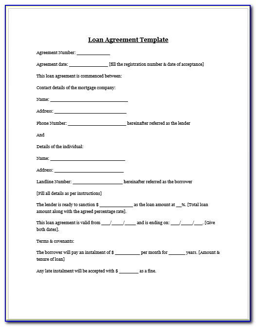 Personal Loan Agreement Template Philippines