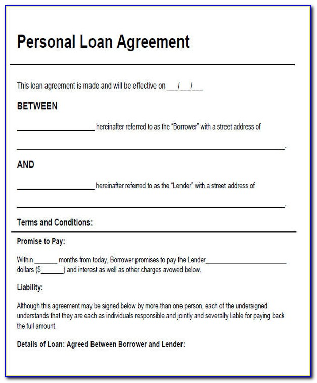 Personal Loan Contract Sample Philippines